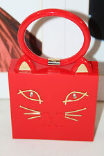 CHARLOTTE OLYMPIA RED KITTY CAT CLUTCH        MSRP$1075