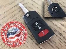 Mazda Remote Flip Key Fob CASE SHELL 3 Button Mazda 3 6 RX-8 CX-7 CX-9  USA