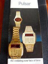 """Very Rare Pulsar Calculator Watch, Pre-Production, ""No 14. of Second Run"" 1976"