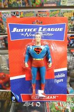 "Justice League The New Frontier SUPERMAN 5 1/2"" Bendable Figure ~ NJ Croce NIP"