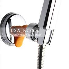 New Adjustable Chromed Shower Head Bracket Holder Suction Cup Bathroom Wall