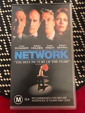 NETWORK WILLIAM HOLDEN PETER FINCH ROBERT DUVALL ORIGINAL AS NEW PAL VHS VIDEO