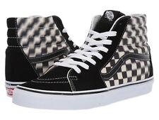 Vans Sk8-HI SKATE Shoes Men's Size 9 Blur Check Black White