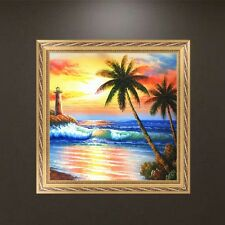 DIY 5D Diamond Embroidery Painting Seaside Sunset Cross Stitch Craft Home Decor