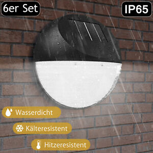 6x Solarleuchte LED Zaunleuchte Wandleuchte Wegbeleuchtung Gartenleuchte Treppen