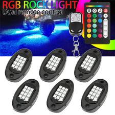 6Pcs Neon LED Rock Light Kit RGB Underglow Lamp Offroad Car Truck Remote  W W
