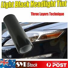 2 x  30x40cm Cars Ute Auto Truck Indicators Head Fog Light Tint Film Black Smoke