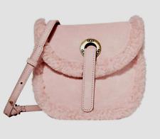UGG Australia 1103750 Heritage Crossbody Suede Small Hand Bag Pink Crystal