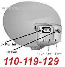 DISH NETWORK SATELLITE DISH 1000 500 PLUS DPP PRO HD 110-119-129 1000+ DP TURBO