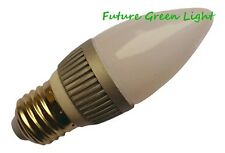 E27 ES CANDLE 12 SMD LED 240V 2.5W 180LM DIMMABLE WARM WHITE BULB ~40W
