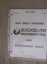 1979 Mariner V-200 Outboard Quicksilver Accessories Replacement Parts Manual  L