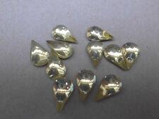 24 poires dos plat 13x8mm en verre idéal à coller ou sertir jonquille