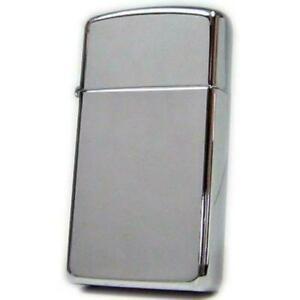 GENUINE UK ZIPPO Lighter, Slim Hi Polish Chrome Perfect for Gift