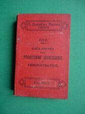 GUIDA PRATICA NELLE PROCEDURE GIUDIZIARIE E AMMINISTRATIVE 1898 manuale BARBERA