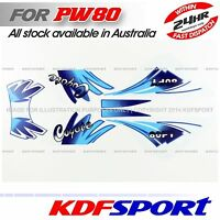 KDF PW80 PY80 JS80PY STICKER DECAL FOR YAMAHA PW 80 PY 3M PEEWEE JIANSHE COYOTE
