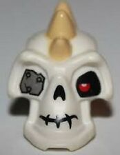 LEGO Minifig Head Modified Skeleton Skull Tan Spikes Metal Eyepatch NINJAGO NEW