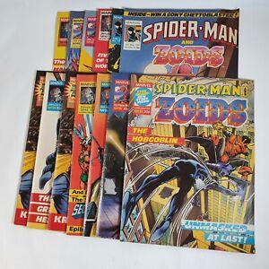 Spider-Man Spiderman & Zoids Marvel UK Comic 13 Issues Bundle Lot