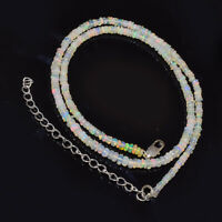 "1 Str Natural Welo Ethiopian Opal Smooth Rondelle Beads 3.5MM-4MM 16"" 30.95 cts"