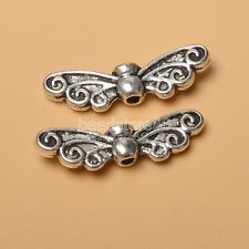 30pcs bead  tibetan silver charm wings spacer beads Jewelry Findings  22MM