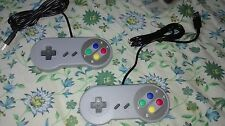 2 X Wired USB SNES Controller Retro Gaming Joypad Joystick Gamepad Nintendo PC