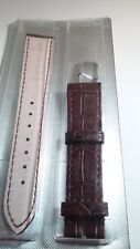 Genuine Omega Band 18x16mm flat BROWN Alligator with stainless steel buckle OMG.
