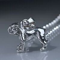 """Silver Stainless Steel American bulldog Pendant dog Ball Chain Necklace 24"""""""