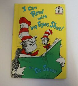 I Can Read With My Eyes Shut Dr. Seuss 1978 1st Edition