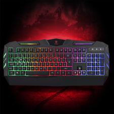 Gaming Tastatur RGB  Beleuchtung QWERTZ USB Wired Computer Keypads