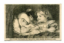 Victorian Trade Card RIDGE'S FOOD BLANC MANGE Woolrich & Co Baby & sister