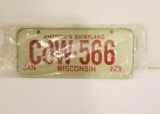 Vintage 1979 Wisconsin Mini License Plate from Cereal box. Nos Sealed.