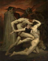 William Bouguereau Dante and Virgil Poster Reproduction Giclee Canvas Print