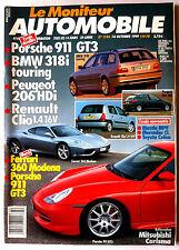 Le moniteur Automobile 14/10/1999; Essai Peugeot 206 HDi/ Clio 1.4/ BMW 318 i