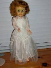 "Uneeda ~ Vintage 1950's HP Vinyl 21"" Red Hair Bride Doll"