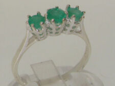 Emerald Band Sterling Silver Fine Rings