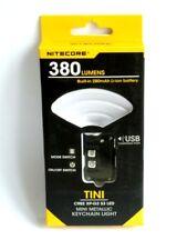 Nitecore TINI Taschenlampe schwarz 380 Lumen Schlüsselbundlampe