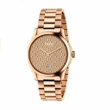 46033bea068 New Gucci G-Timeless Rose Gold Stainless Steel Bracelet Watch YA126482 ~   1
