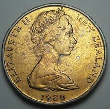 1980 NEW ZEALAND 50 CENTS PROOF BU UNC BEAUTIFUL COLOR TONED COIN #2