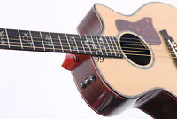 Electric Acoustic Guitar 40'' B-Band Ebony Fingerboard Solid Top Abalone Inlay