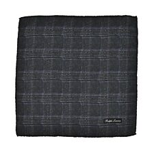 Ralph Lauren Purple Label Glen Plaid Wool Pocket Square Handkerchief New $165