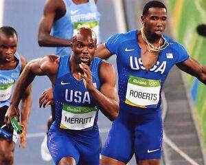 LASHAWN MERRITT USA  2016 RIO OLYMPIC GAMES 8X10 SPORTS PHOTO (RIO)