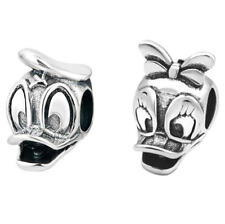 Donald Duck & Daisy Duck Disney Silver Plt Charm fits European Charm Bracelets