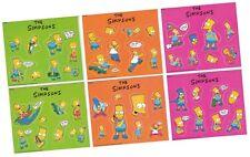 "The Simpsons - 6 ""Sticker"" Set SPI KC 1-6 - 161 x 138mm - Vending Machines 1991"