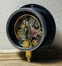 "One-Of-A-Kind 5"" Deconstructed Vintage Brass Pressure Gauge Steampunk Industrial"