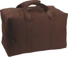 Dark Brown Military Parachute Cargo Bag