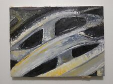 Original Oil Painting Still Life Bike Helmet Mountain Biker Street Racing Yellow