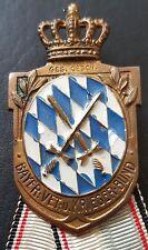 ✚7685✚ German WW1 Bavarian Warrior League Badge Medal KRIEGERVERBAND DESCHLER
