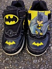 Batman Interchangeable Sneakers Run Walking Marvel Bat Mobile Boys Shoes Sz 11