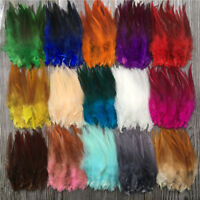 Wholesale!50/1000pcs beautiful high quality rooster feathers 4-6 inches/10-15 cm