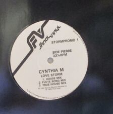 "CYNTHIA M - Love Storm ~ 12"" Single PROMO"