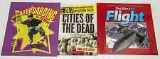 3 Children's Books Skateboarding in Action, Cities of the Dead, Story of Flight
